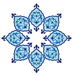 Artistic ottoman pattern series fiveteen vector
