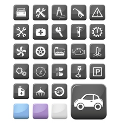 Auto mechanic and service buttons vector image vector image
