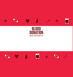 Banner of world blood donor day collection vector