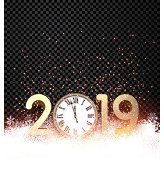 black shiny 2019 new year background with gold vector image