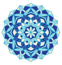 Blue abstract mandala vector