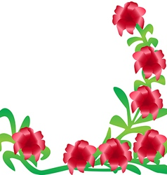 Branch with red silk flowers vector image