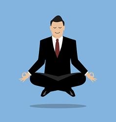 Businessman in meditation vector