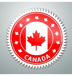 Canada flag label vector image