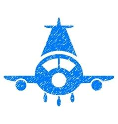 Cargo Plane Grainy Texture Icon vector