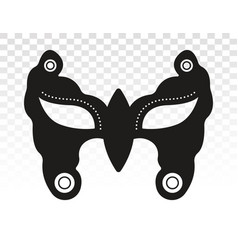 Carnival festival disguise face mask flat icon vector