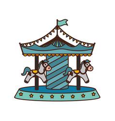 Carrousel circus cartoon vector