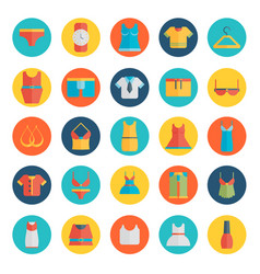 Clothing icons - flat vector