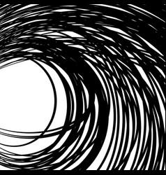 Concentric - converging circles abstract vortex vector