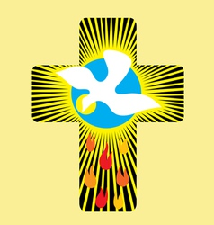 Cross n holyspirit vector