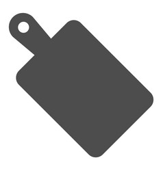 Cutting board solid icon wooden board vector