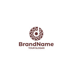 D tile and stone logo design vector