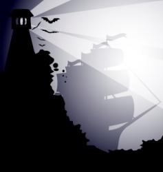 dark landscape vector image