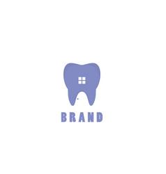 dental house logo vector image