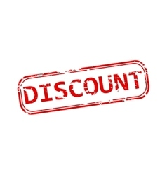 Discount rubber stamp vector image