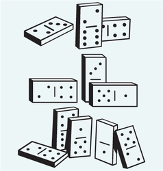 Dominoes set vector image