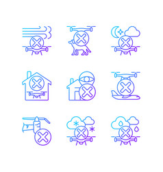 Drone restrictions gradient linear manual label vector