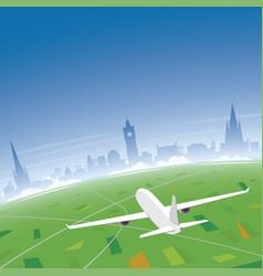 Edinburgh skyline flight destination vector