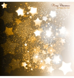 Elegant Christmas background with golden stars vector image
