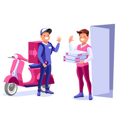 Express delivery man concept vector