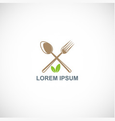 food spoon and fork logo vector image