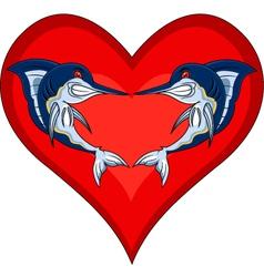 funny marlin fish vector image