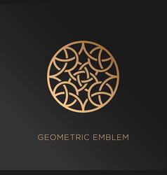 geometric logo vector image