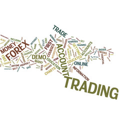 Good traders get educated text background word vector