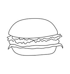 Hamburger icon in outline style vector image