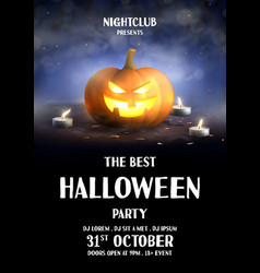 Happy halloween holiday party poster vector