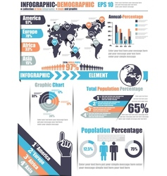 INFOGRAPHICS DEMOGRAPHIC ELEMENT 11 BLUE vector image