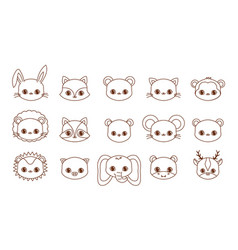 Kawaii animals desing vector