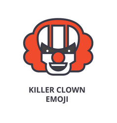 killer clown emoji line icon sign vector image