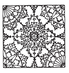 Lace pattern is a german 16th century design vector
