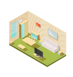 Living room interior composition vector