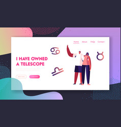 Love relations website landing page happy couple vector