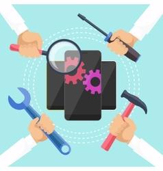 Mobile service concept vector