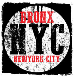 New york city grunge print and varsity for vector