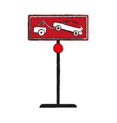 No park zone parking sign icon image vector