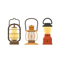 Oil Lamp Set vector image