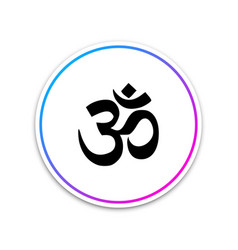 om or aum indian sacred sound icon on white vector image