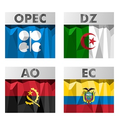 OPEC countries flags vector