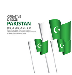 Pakistan independence day celebration poster vector