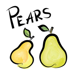 pears sign isolated pear fruit tag fresh farm vector image