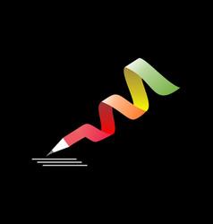 Pencil writing concept logo vector