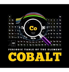 Periodic Table of the element Cobalt Co vector image