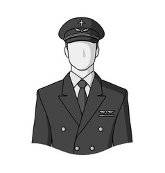 Pilotprofessions single icon in monochrome style vector