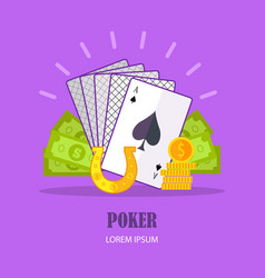 poker concept in flat design vector image