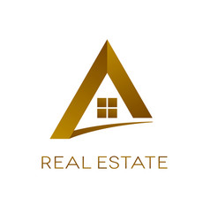 Real estate logo design isolated vector