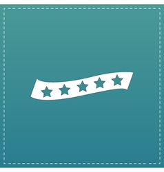 Recommended bestseller star ribbon vector image